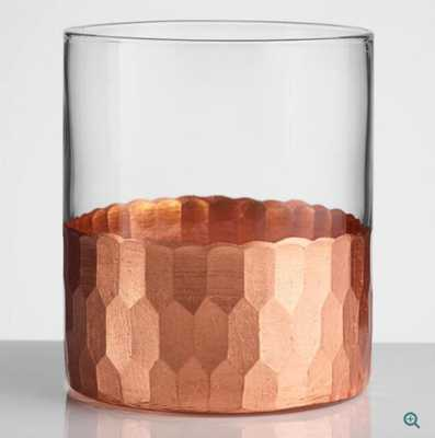 Copper Faceted DOF Glasses Set of 4: Metallic by World Market - World Market/Cost Plus