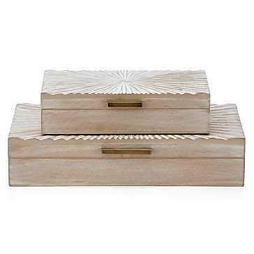 Sunburst Boxes - Set of 2 - Z Gallerie