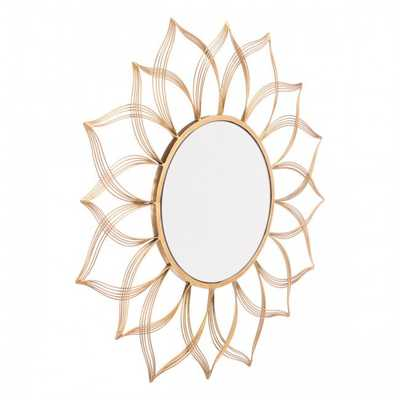 Flower Gold Mirror - Zuri Studios