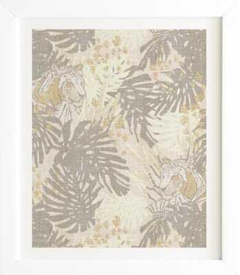 JUNGLE TIGER LINEN- 14 x 16.5 - Wander Print Co.