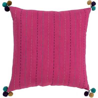 """Dhaka Pillow with Polyester Insert, Pink, 20"""" x 20"""" - Neva Home"""