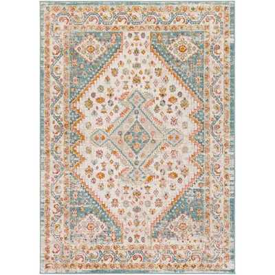 "Salma Rug, 7'10""x 10'3"", Aqua - Roam Common"