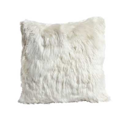 ALPACA 20 IN. SQUARE IVORY THROW PILLOW - Mitchell Gold + Bob Williams