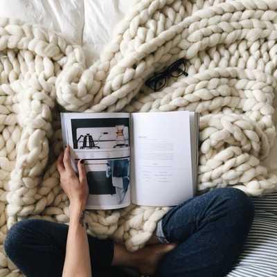 "Chunky Blanket, 32x54"" Pure Merino Throw Blanket, Giant Knit Blanket, Huge Stitch Size - Etsy"