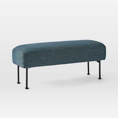 Ruby Bench, Herringbone, Mineral Blue - West Elm