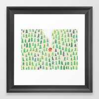 Alone in the woods Framed Art Print - Society6