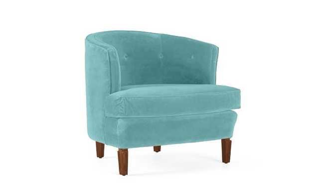 Blue Leigh Mid Century Modern Chair - Notion Thunderbird - Medium - Joybird