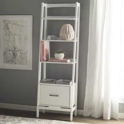 Easmor Ladder Bookcase, White - Wayfair