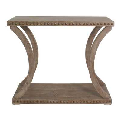 Paisley Natural Oak Riveted Console - Home Depot