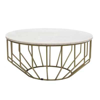 Singletary Marble Round Coffee Table - Wayfair