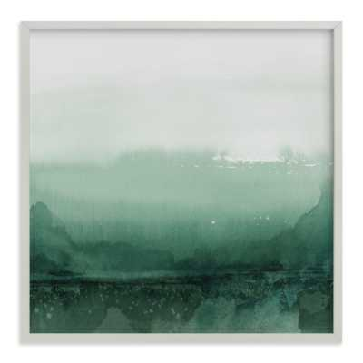 "evening reflection, emerald green, 44"" x 44"", white wood frame - Minted"