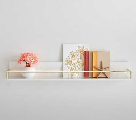 Polished Shelving, White/Gold, 3ft - Pottery Barn Kids