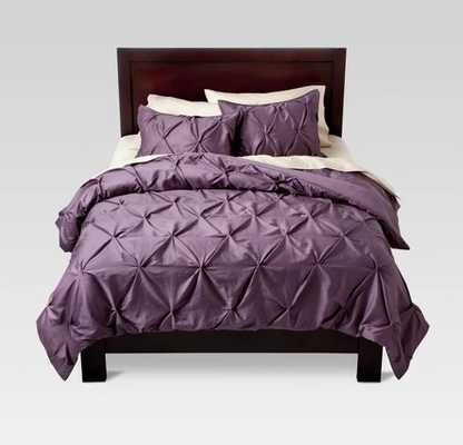 Pinched Pleat Comforter Set - Threshold™ - King- Lavender - Target