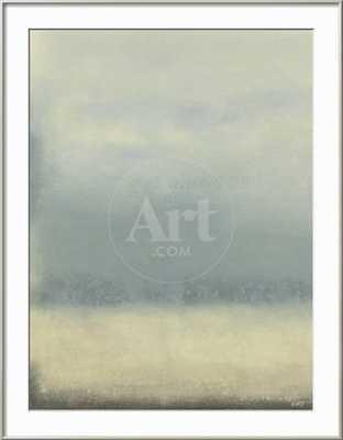 "Coastal Rain II - Ronda Silver, Acrylic Clear - Bright White Mat 2.5""- 30"" x 40"" - art.com"