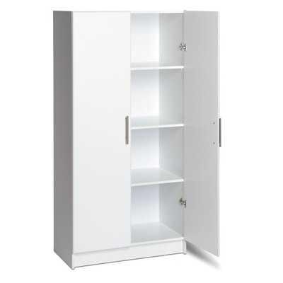 32 in. Elite Storage Cabinet, White - Home Depot