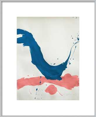 BLUE + PINK by Jill Sykes - chrome frame - Artfully Walls