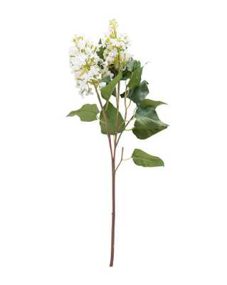 FAUX WHITE LILAC STEM - McGee & Co.