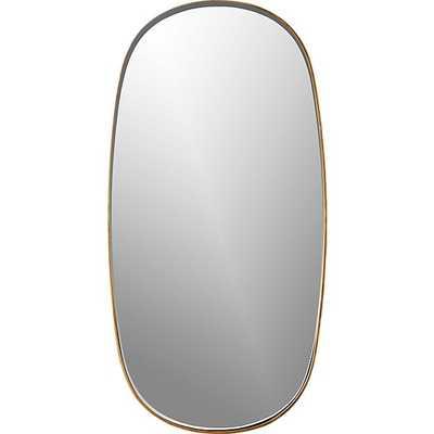 rogue small oval mirror brass - CB2