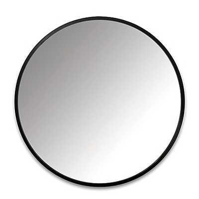 Umbra® 37-Inch Hub Round Mirror in Black - Bed Bath & Beyond