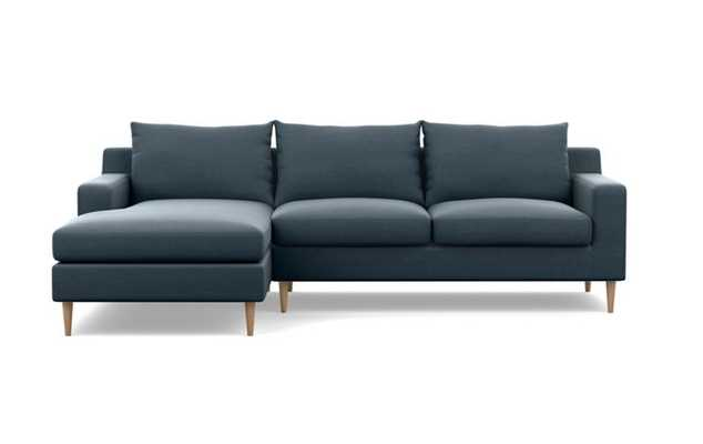 """SLOAN Sectional Sofa with Left Chaise with Aegean Structured Cloth 104"""" - Interior Define"""