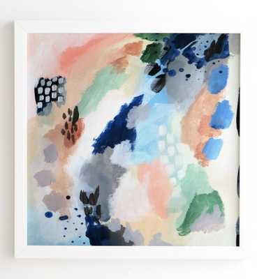 "SEASONS ABSTRACT White Framed Wall Art - 12"" x 12"" - Wander Print Co."