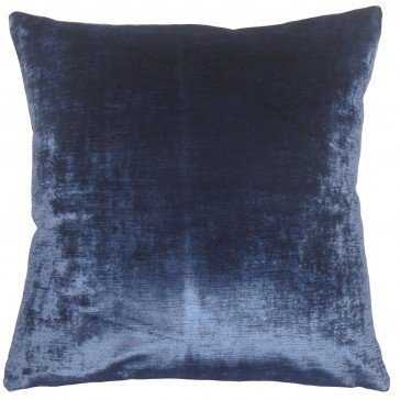 "Jasper Solid Pillow Blue - 12"" x 18"" - Down Insert - Linen & Seam"