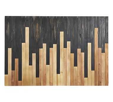 Mixed Wood Wall Art, Black/Natural - Pottery Barn
