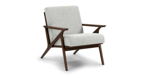 Otio Mist Gray walnut Lounge Chair - Article