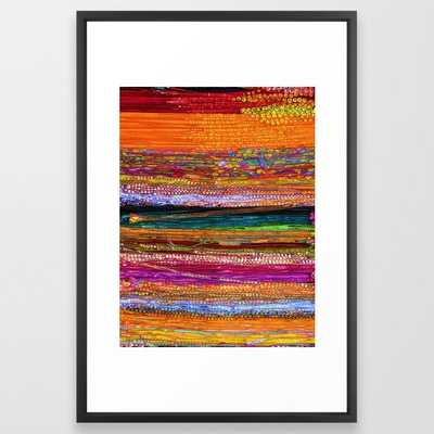 Indian Colors Framed Art Print - Society6