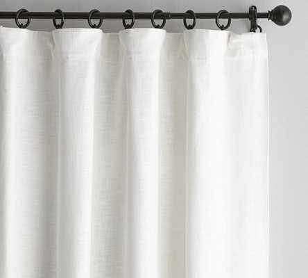 "Seaton Textured Drape, 50 x 84"", White, Cotton Lining - Pottery Barn"