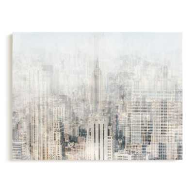 "Big Apple Blue, 30"" x 40"" Wrapped Canvas - Minted"