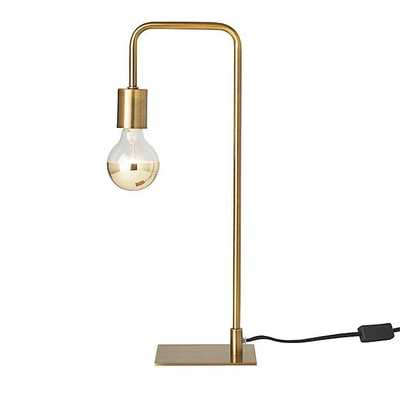 Antique Brass Arc Table Lamp - CB2