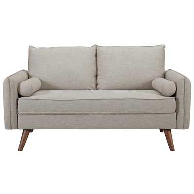 REVIVE UPHOLSTERED FABRIC SOFA IN BEIGE - Modway Furniture