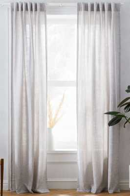 "Crossweave Curtain, Unlined, Stone White, 48""x96"" - West Elm"