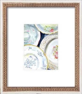 "Vintage Plates -8""x10"" -  Final Framed Size: 14""x16"" - Artfully Walls"