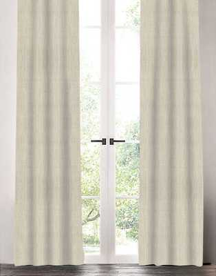 "Linen Drapery Single Panel, Natural, 96"" - Havenly Essentials"