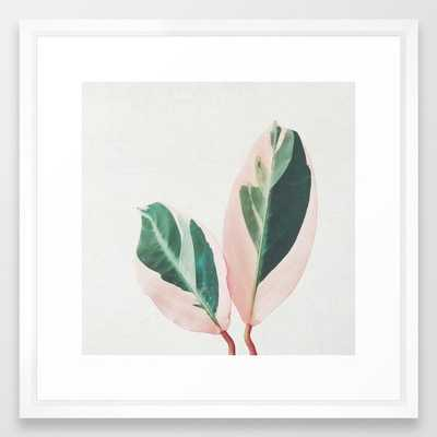 Pink Leaves I Framed Art Print - Society6