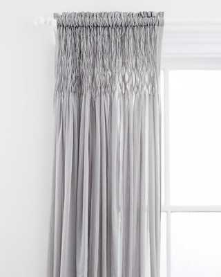 """Heirloom Voile Curtain Panel, 96""""L, Gray - Horchow"""