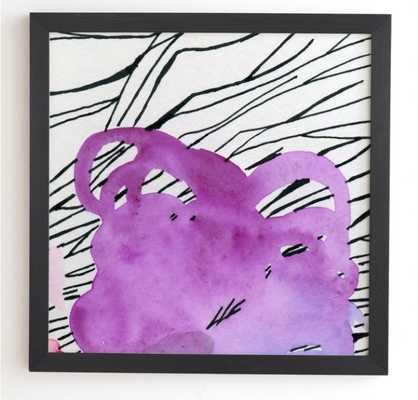 Purpura 20 x 20 - black frame - Wander Print Co.