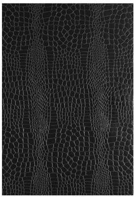 "Crocodile 3D Embossed 15' L x 27"" W Wallpaper Roll, Black, 2 Roll Set - Wayfair"