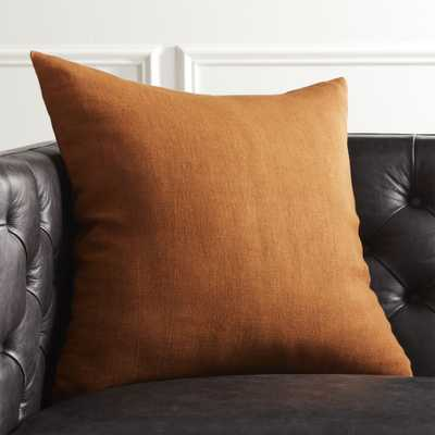 """20"""" Linon Copper Pillow with Down-Alternative Insert"" - CB2"