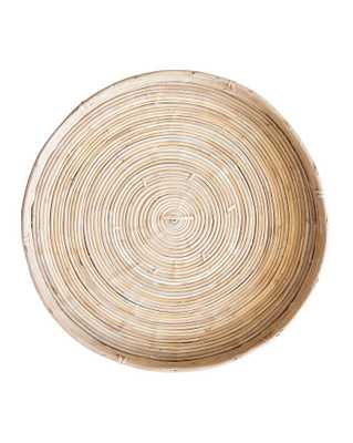 CANE RATTAN ROUND MEDIUM TRAY - McGee & Co.