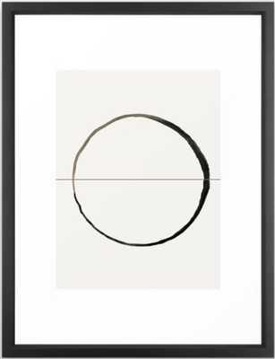 """C7 Framed Art - 20x26"""" - vector black Frame - Society6"""