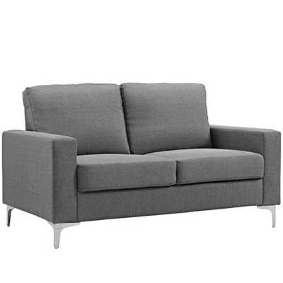 ALLURE UPHOLSTERED SOFA IN GRAY - Modway Furniture