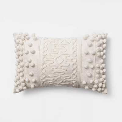 Oblong Pom Throw Pillow Cream - Opalhouse™ - Target