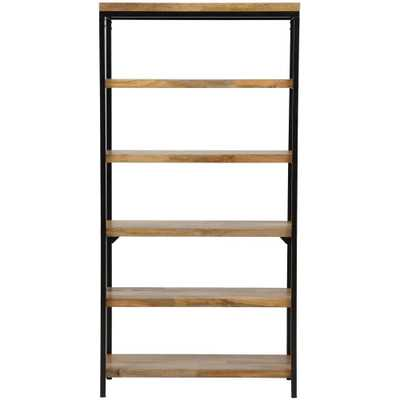 Anjou Natural Open Bookcase - Home Depot