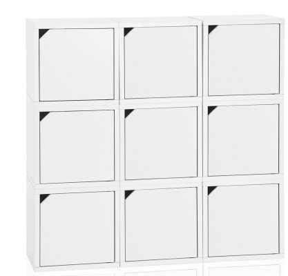 Connect Cube Unit Bookcase - Aspen White - Wayfair