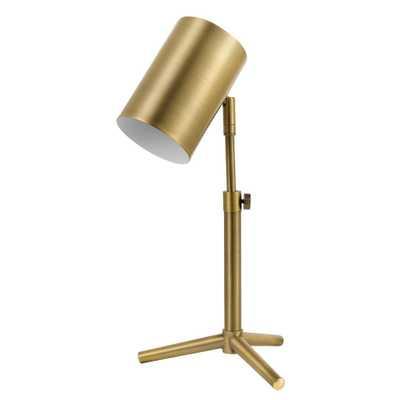 Globe Electric Pratt 18 in. Matte Brass Desk Lamp - Home Depot