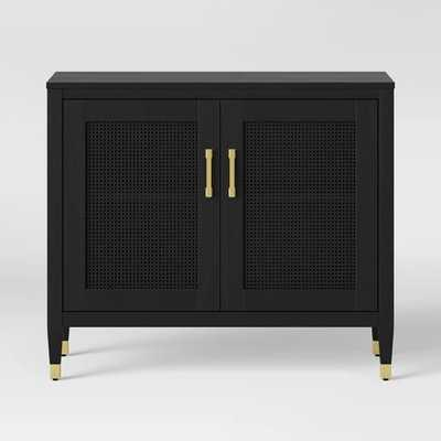 Duxbury Black Accent Cabinet with Gold Feet - Threshold™ - Target