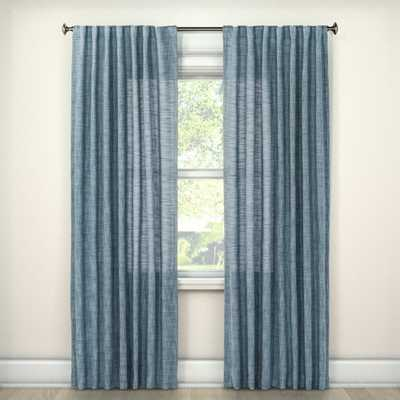 "Textured Weave Blue Curtain Panel, 95"" L - Target"